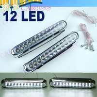 Guangdong China (Mainland) 2563# 2.4 cm New Arrvial 2x Car Truck Universal Aux 12 LED Fog Light Daytime Running Lamp 2563
