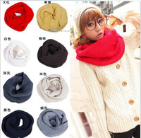Wholesale Korean version of the new autumn and winter knitted wool scarf shawl solid color scarves C11213