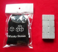 Wholesale 8pcs set whisky rocks whiskey stones beer stone whisky ice stone bar accessaries