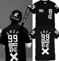 Wholesale Chinese Size S XXXL retail piece chef classic fork digital hiphop skateboard short sleeve t shirt cotton color