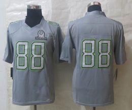 Wholesale dallas football jerseys hot pro bowl jersey Dez Bryant gray limited men s american apparel best football jerseys sports shirts