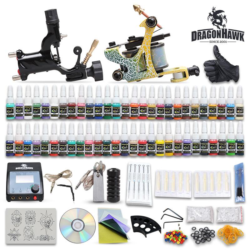 beginner cheap complete tattoo kit 2 guns machines tattoo