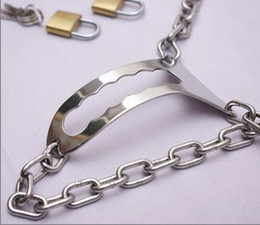 Female Stainless Steel Adjustable Chain invisible chastity belt with locks bondage sex toys