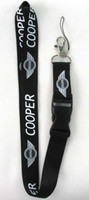 Wholesale 20 MINI Cooper Key Chain Lanyard Cell Phone Ipod Strap Neck Pass Logo Keychain ID