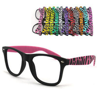 Wholesale Fashion Wayfarer Vintage Retro Trendy TWO TONE Zebra Glasses Frame No Lens Ixy