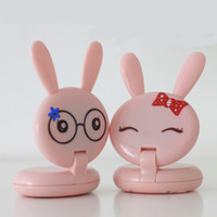 Lamp bead No batter Lovely Pink Mini Rabbit Shape Folding Up LED Desk Lamp Table Lamp Light