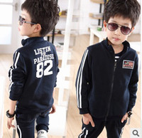 Wholesale 2013 Korean girls boys long sleeved track suit pants suit set