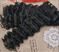 Wholesale Trade A Brazilian Hair Extension Deep Wave Curly quot quot DHL human hair weave double hair weft brazilian virgin hair