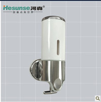 Wholesale H Wall Mounted One Slider Stainless Steel And Powering Plastic Panel Soap Dispenser For Hotel Home Office