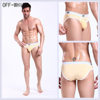 Men Cotton G-Strings & T-Back & Thongs 2pcs Free shipping Hot sexy mens mesh see through underwear brand men briefs white gay underwears Underpants for man Panties Shorts 2004-SH