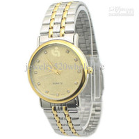 Wholesale High Quality Luxury Watch Gold Circle Stainless Steel Waterproof Watches For Gentle Men Male