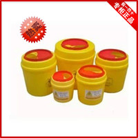 Wholesale 10pcs Thickening l tool box medical sharps box yellow plastic medical garbage bucket push switch eco friendly