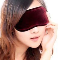 Cheap 10pcs Tourmaline beauty blindages eyeshade magnetic therapy sleeping eye mask goggles po black eye