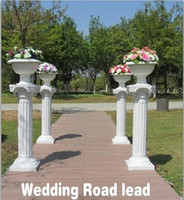 Backdrops plastic columns - White Plastic Roman Columns Road Cited For Wedding Favors Party Decorations Hotels Shopping Malls Opened Welcome Road Lead