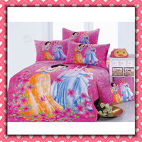 Wholesale Reactive dyes printed Bedding Princess Snow white Nursery Bedding Set Children s Gift