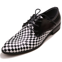 Wholesale low Price Sell Groom Wedding Shoes Cool Men s Prom Shoes Leather Casual NO