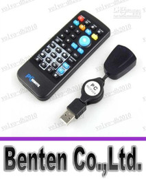 Wholesale LLFA4398 Brand New With Retail Box Universal USB PC IR Remote Control Controller for PC Laptop Computer XP Vista Win7 AC02