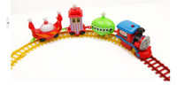 Wholesale 2014 Hot sell Children Tomas Set Electric Small Train Toys Train Track locomotive cars