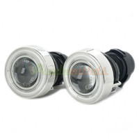 Wholesale CCFL W Car Angel Eyes Projector Fog Lamps Pair V
