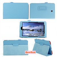 Wholesale Slim Folding Folio Book Litchi Stand Protector Smart Cover Case Tablet PC Shell Leather Skin For Dell Venue Inch Android Edition