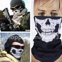 Wholesale Halloween Skull Skeleton Motorcycle Bicycle Bicycle Multi functional Headwear Hat Scarf Half Face Mask Cap Neck Ghost Scarf