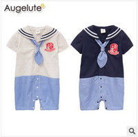Wholesale New Arrival Kids Jumpsuit Spring And Summer Baby High Quality Rompers Navy Style Sleepsuits Jumpsuits