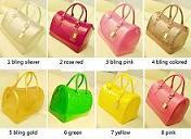 Wholesale 23 colors candy bag Wider open candy Shell Satchel Rubber Padlock boston Bag Purse women silicone patte Handbag factory price