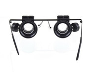 Wholesale 20X Magnifier Magnifying LED Light Glass Loupe Lens Eye Jeweler Watch Repair