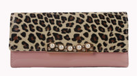 PU Leather Wallet Ladies Purse Leopard Print Clutch