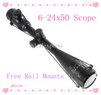 Wholesale Tactical x50 AOE Optics Air Rifle Scope Sight Gun Free mm Rail Mounts Outdoor HOT