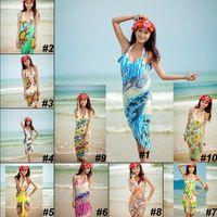 Sexy Women's Wrap Coverups Dresses Chiffon Swimwear Bikini C...