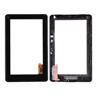 Wholesale Touch Screen Digitizer with Middle Frame and Flex Cable for Amazon Kindle Fire Kindle Orange High Quality
