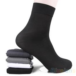 Wholesale New Pair Man Short Summer Spring Bamboo fiber Socks Black White Gray Stockings Middle Socks