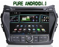 Wholesale Android Car dvd gps for HYUNDAI IX45 Santa Fe SANTAFE ARM A10 GDDR3 GB Capacitive TOUCH screen map WIFI g
