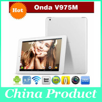 Under $200 Onda 9.7 inch Onda V975M Tablet pc Amlogic M805 Quad Core 2.0GHz 64bit RAM 2GB ROM 32GB 9.7 inch Retina 2048*1536 Screen Android 4.3 built-in wifi 002069
