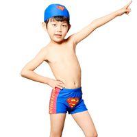 Body Suits Women Spandex Children's swimwear Superman swimming trunks male baby hat boys boxer trunks 1175