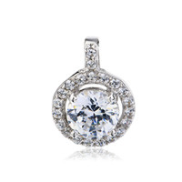 Wholesale GND0662 Elegant Fashion design Floating Charms Sterling silver AAA Zircon Pendant mm For Women Jewelry Russia