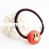 Wholesale Korean version of the new cute candy colored mushroom head Tousheng dot rabbit hair ring headwear Discounted
