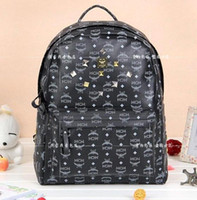 Wholesale MCM handbag TVXQ Yunho one day rain girlhood Backpack Leather World Cup WHB061