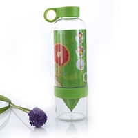 Wholesale New Lemon Cup Citrus Zinger Juice Source Vitality Water Bottle Fruit Cup Portable Healthy