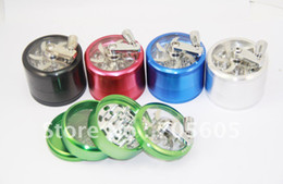 Wholesale 2 quot parts Crank handle CNC aluminium grinder clear top