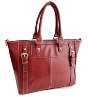 Wholesale Women Korean Style Handbag Oil Wax Leather Cowhide Handbag SHOULDER BAG TOTE CROSS BODY BAGS GIRL