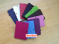 Wholesale Flip Smart Book Folding Litchi Holder Stand Cover Case PU Shell Tablet PC Leather Skin For ASUS MeMO Pad ME102A Me102 DHL