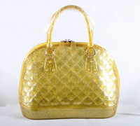Wholesale Factory Price new fashion designer luxury handbags candy color shell tote bag silicone bag plaid check pattern DHL