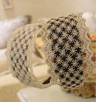 Wholesale yards mm exquisite gold thread embroidery lace trim headband hair bow gift packing crafting DIY accessory