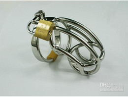 The Hottest Chastity Men's Cock Cage Stainless Steel Ring Adult BDSM Sex Product Bondage Fetish Chastity Belt Device