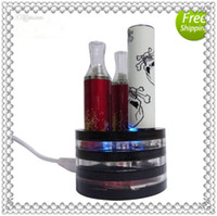 Wholesale 2014 eGo Battery Holder Triple Vape Tray Charger For All eGo Series Cartomizer Battery E cig Metal Base Display Stands by amazestore