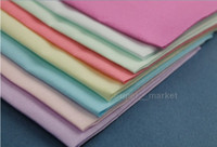 Wholesale 28 cm Solid Cotton Lady Plain Handkerchief Multicolor