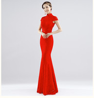 Wholesale 2014 New Design Sexy and Backless Traditional Chinese Improved Short Dresses Bride Wedding Dresses Mermaid Women Cheongsam Color Sizes