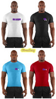 Wholesale Under MEN S UA HEATGEAR Armour Squeeze COMPRESSION short SLEEVE stretchy Tee T Shirts with original tags colors for gym
